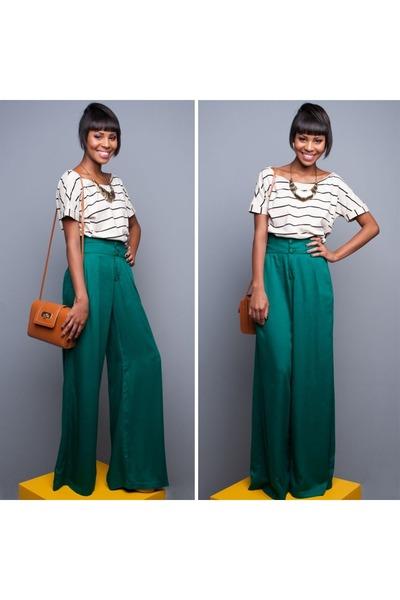 Fashion-striped-t-shirt-shirt-retro-bag-casual-palazzo-pants_400