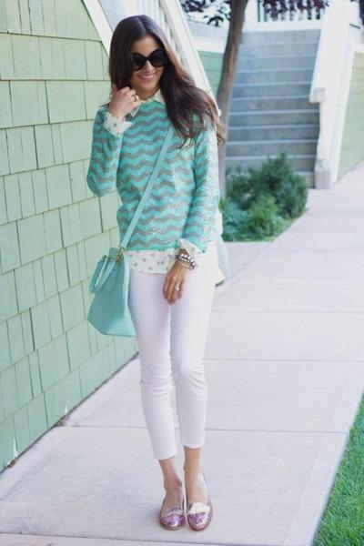 Aquamarine-stripes-sweater-ivory-polka-dots-shirt-aquamarine-bag_400
