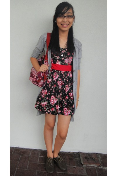 Floral Dress With Cardigan