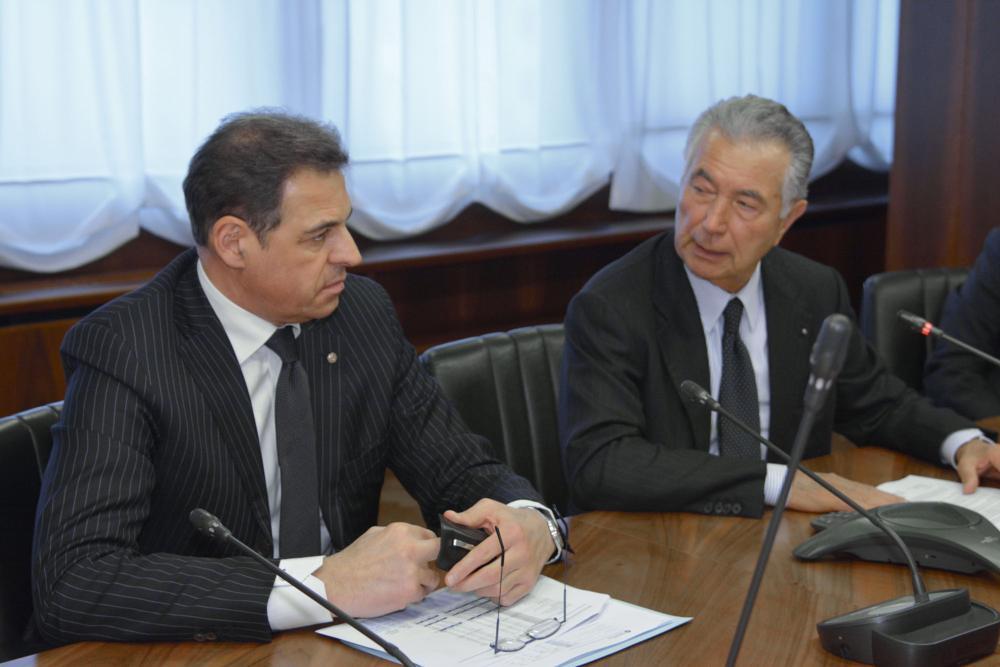 Samuele Sorato con Gianni Zonin (archivio)