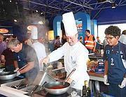 Stand Barilla con corsi di cucina per gli appassionati