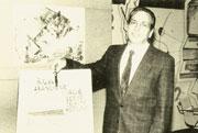 Alberto Manzi, maestro elementare, condusse dal 1959 al 1968 la trasmissione televisiva «Non è mai troppo tardi». Il programma fu un formidabile strumento di aiuto alla lotta contro l'analfabetismo