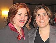 Christine Quinn (a sinistra) e Kim Catullo