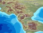 La zona del massiccio del Pollino colpita dal terremoto