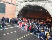 La protesta a Genova