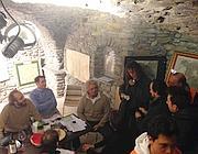 Grillo con Casaleggio ad Aosta (Ansa)