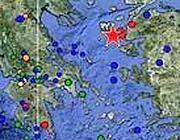 Indicato con la stella l'epicentro del terremoto
