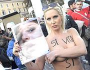 La protesta per le staminali in piazza del Popolo (Benvegnù - Guaitoli - Cimaglia)