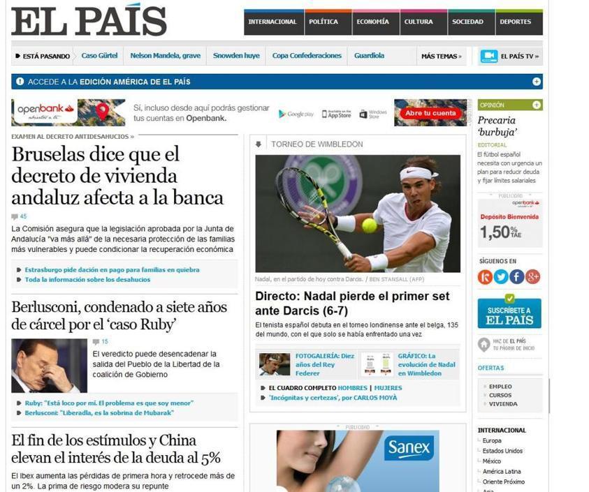 Lo spagnolo El Pais