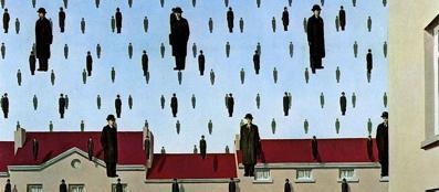 René Magritte, «Golconde», 1953