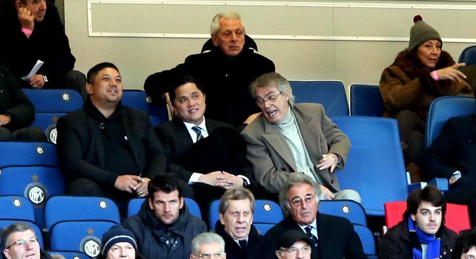 Thohir e Moratti durante Inter-Catania