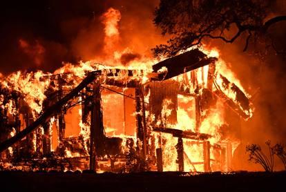 Maxi incendio in California, distrutti i vigneti della Napa Valley