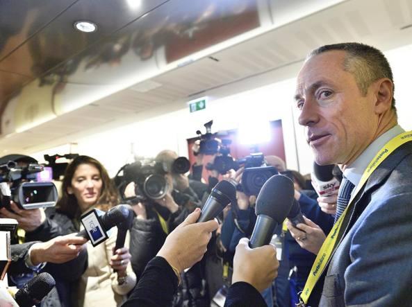 Matteo Del Fante, amministratore delegato di Poste, alla presentazione del piano