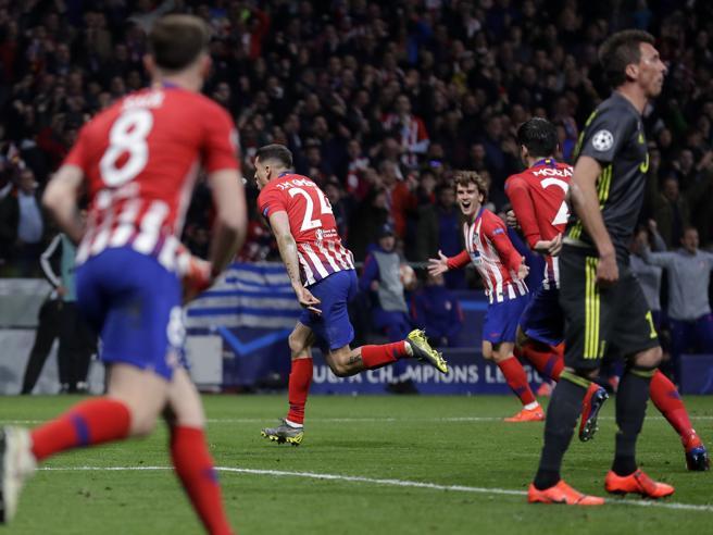 L'Atletico abbatte la JuveA Madrid finisce 2-0,in gol Gimenez e Godin
