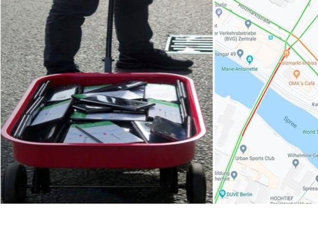 Google Maps ingannato: un uomo modifica il traffico di Berlino con 99 smartphone