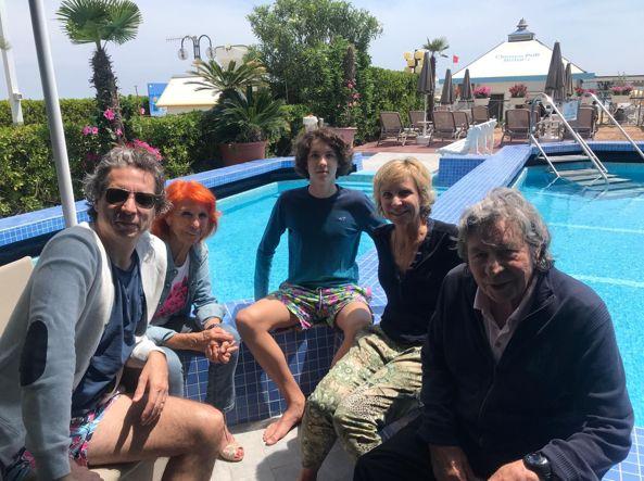 The Marinoff family at the Hotel Cavalieri Palace