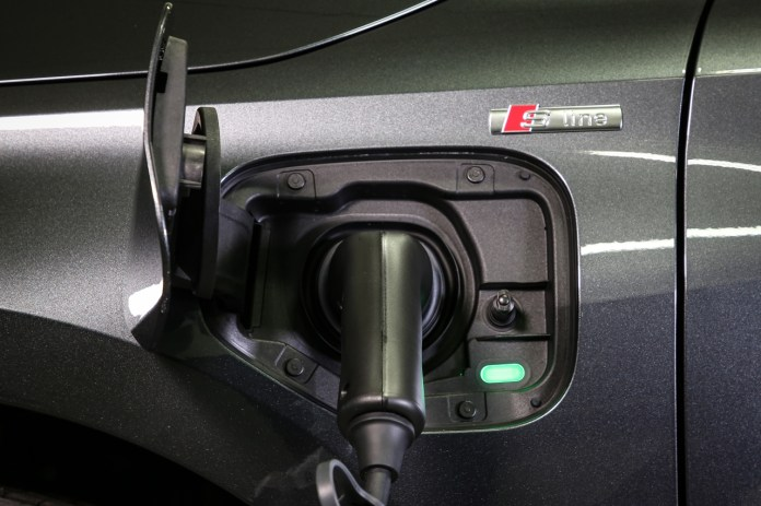 The charging socket for the Audi A3 Sportback TFSIe