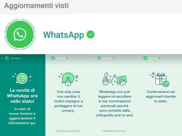 Fuga da WhatsApp? Ora l'app comunica coi suoi utenti con le Storie negli stati (e inizia dalla privacy)