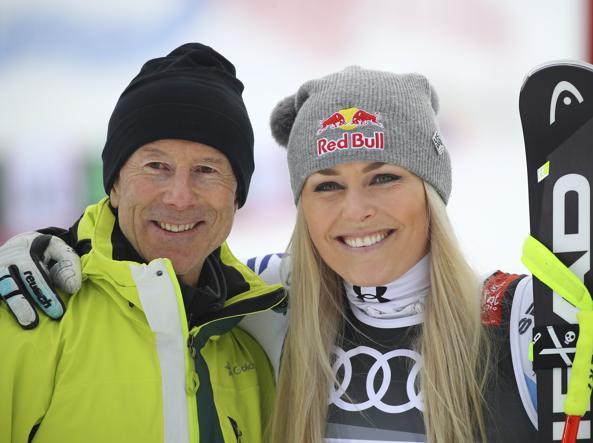 Ingemar Stenmark con Lindsey Vonn (Ap)