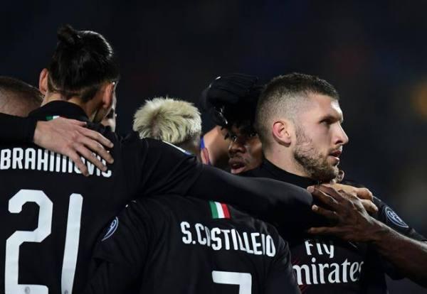 Brescia-Milan 0-1, decide ancora Rebic su assist di Ibrahimovic