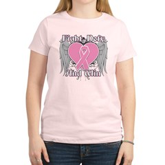 Fight Defy Win Breast Cancer Women's Light T-Shirt