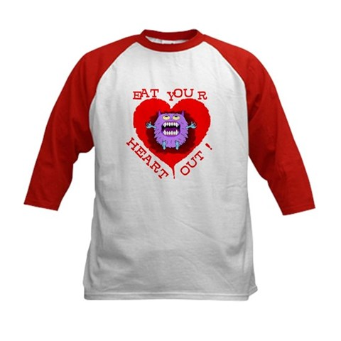 """Valentine's Day """"Eat Your Heart Out"""" Monster Tee"""