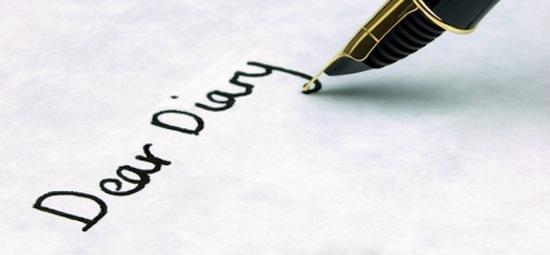 pen on paper: 'Dear diary'