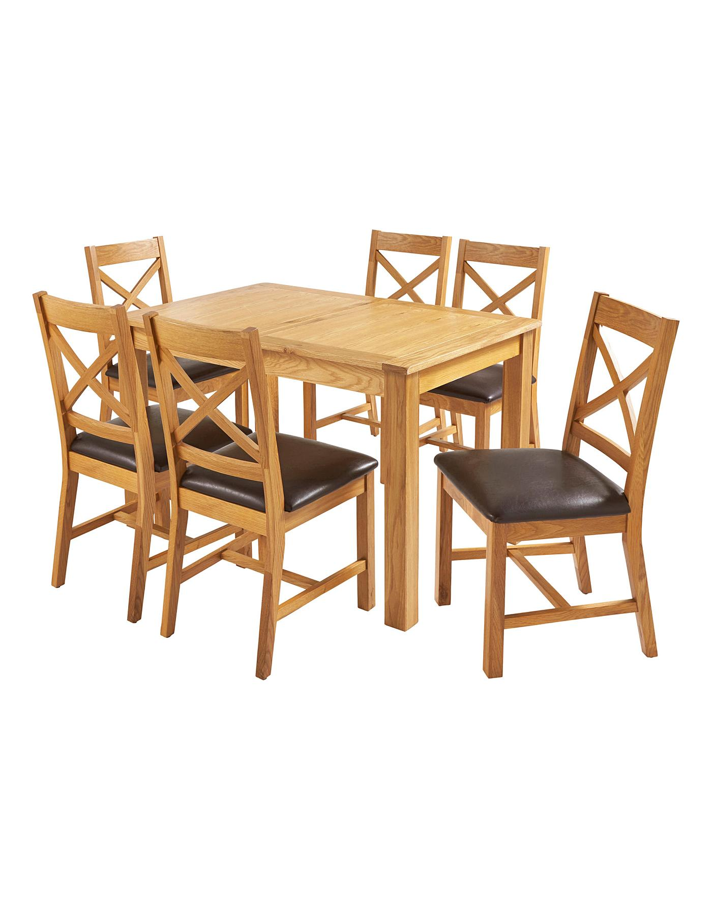 Norfolk Large Extending Table 6 Chairs Oxendales