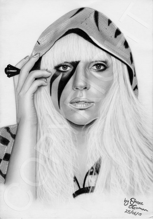 Lady GaGa Drawing 2010