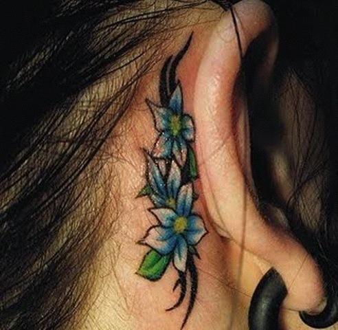 Ear tattoo - tattoos photo