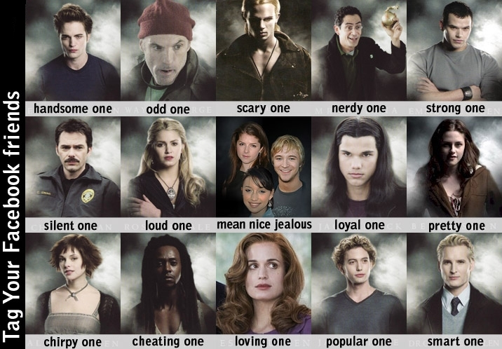 main characters in twilight