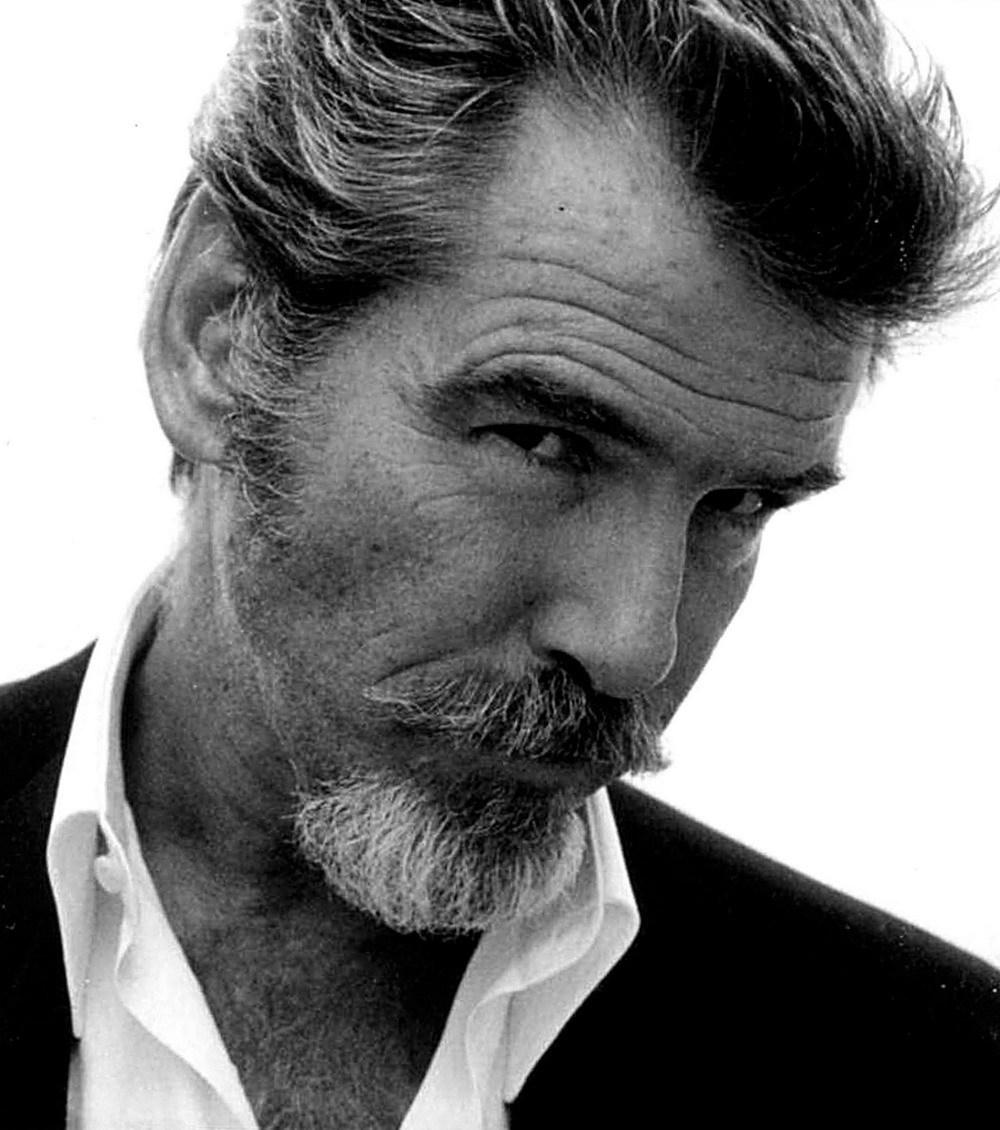 Black And White Bond Portrait Pierce James Brosnan