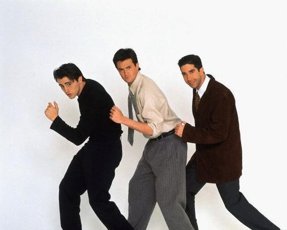 "Ross, Chandler & Joey from ""Friends"""
