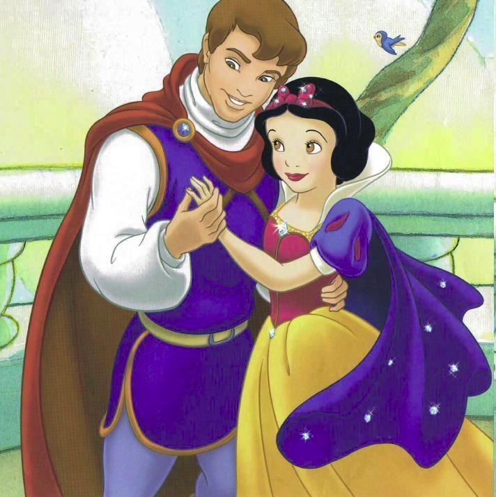 Princess Snow White and Prince Cartoons
