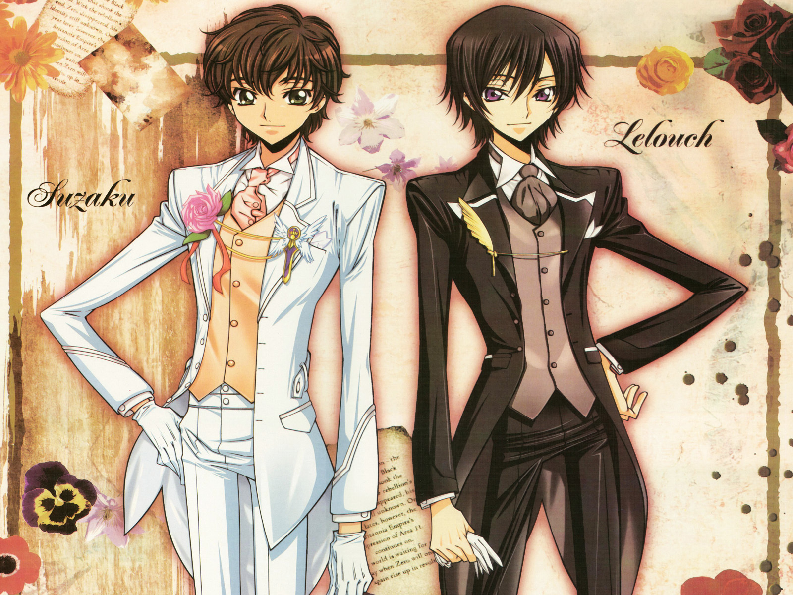 Lelouch and Suzaku   Lelouch Lamperouge/Zero Wallpaper (7299618
