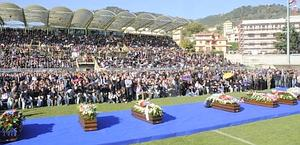 Lo stadio D'Ippolito pieno. Ansa