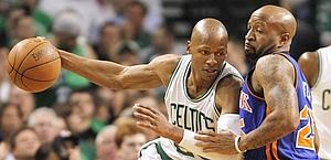 Ray Allen, decisivo in gara-1 contro New York. Ap