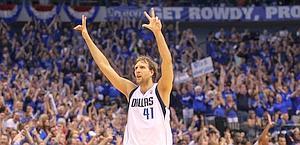 Dirk Nowitzki, 32enne tedesco dei Dallas Mawericks. Afp