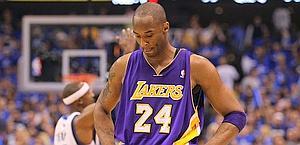 Kobe Bryant deluso nelle semifinali di conference con Dallas. Afp