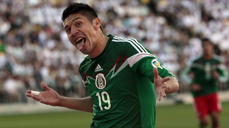 Oribe Peralta, attaccante del Santos Laguna: tripletta. Reuters