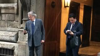Thohir e Moratti ieri a Milano per parlare dell'Inter