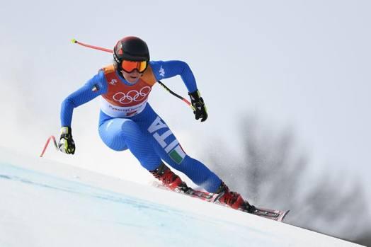 Sofia Goggia ha conquistato il primo oro per l'Italia nella discesa libera femminile olimpica. Afp