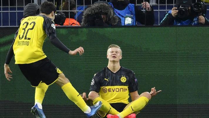 Erling Haaland, 19 anni, man of the match a Dortmund. Ap