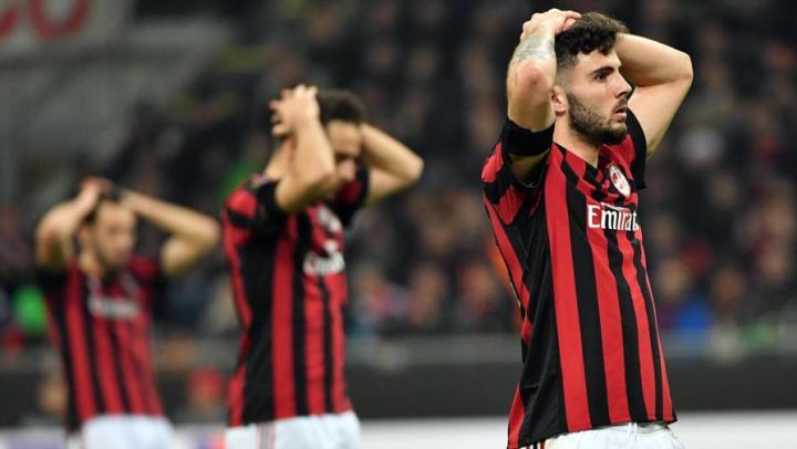 Cutrone disperato in Milan vs. Arsenal   numerosette.eu