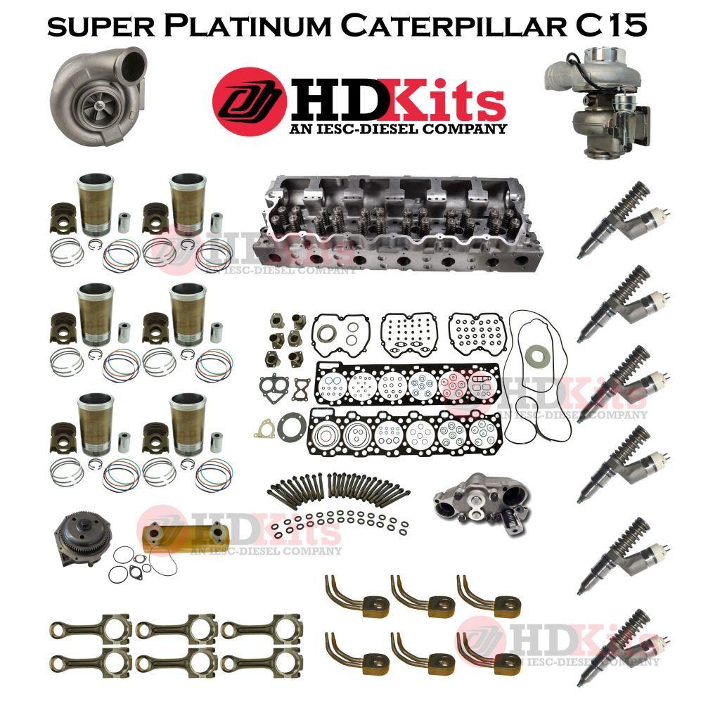 super platinum overhaul kit caterpillar c15 acert engine bxs mxs sdp