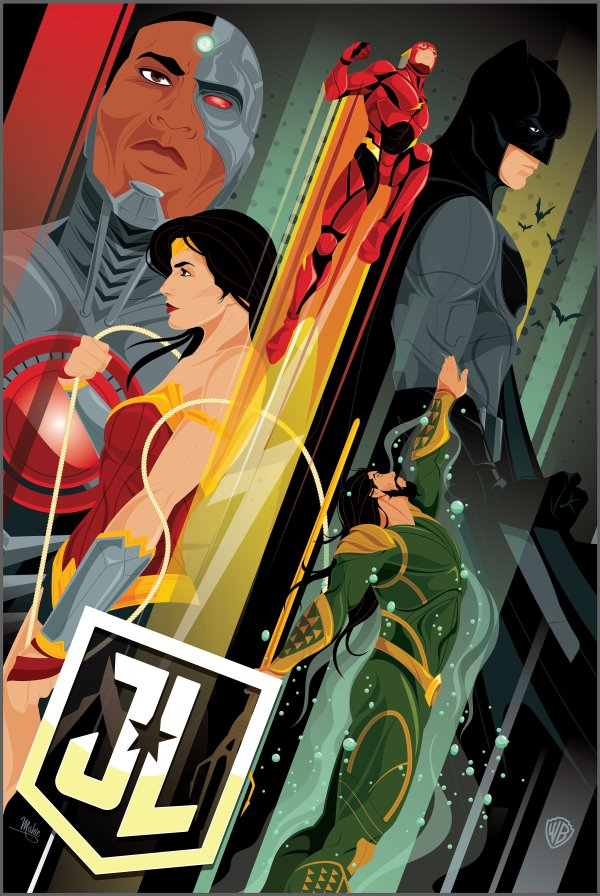 Arty Justice League IMAX poster
