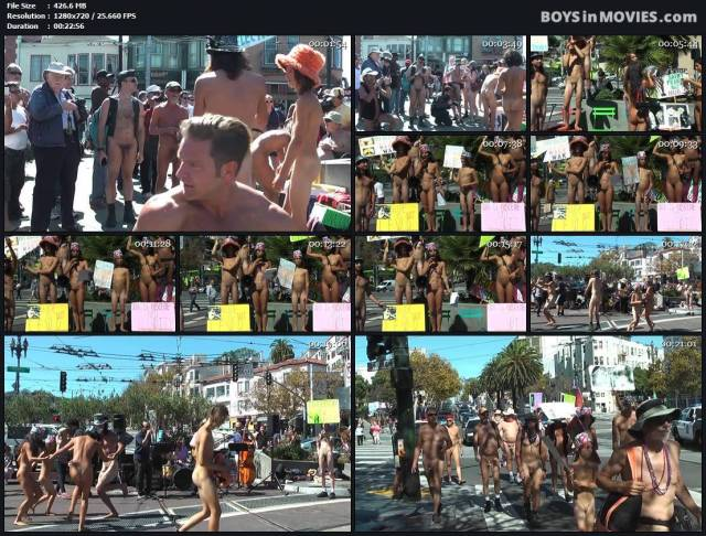 NUDE IN / BODY FREEDOM PARADE in San Francisco on September 26th, 2015 | Boys in movies [BiM]