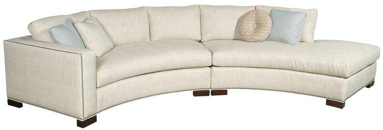vanguard living room bennett arm curved sofa w180 laj
