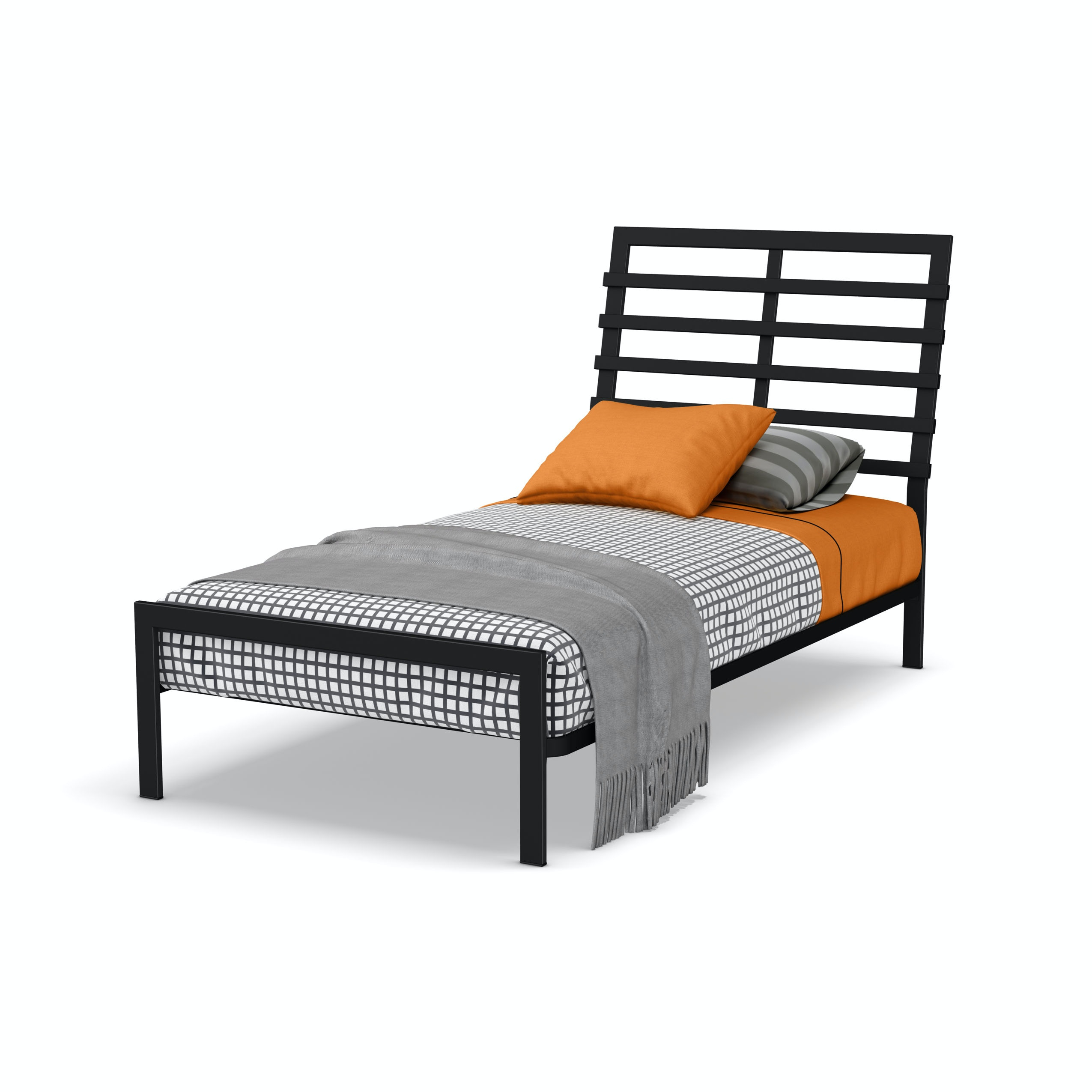 Amisco Youth Bronson Twin Size Bed Headboard And Footboard 12414 39tp Martin Furniture Mattress