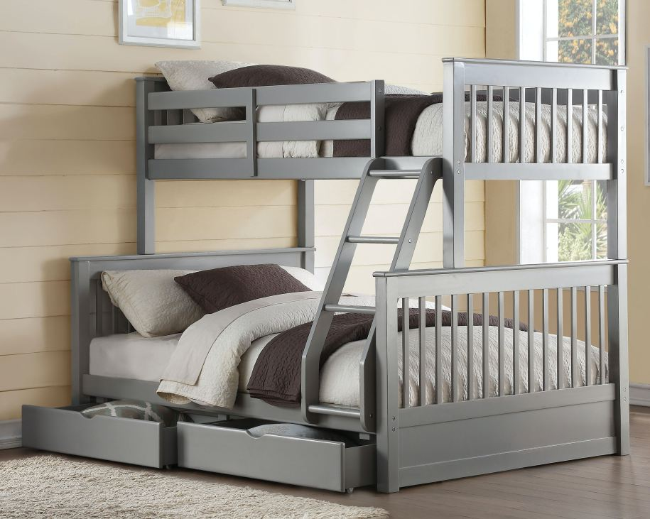 Acme Furniture Youth Haley II Twin over Full Bunk Bed with ...